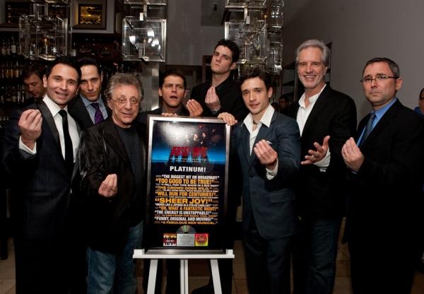 Travis Cloer, Jeff Leibow, Frankie Valli, Deven May, Peter Saide, Rick Faugno and Bob Gaudio