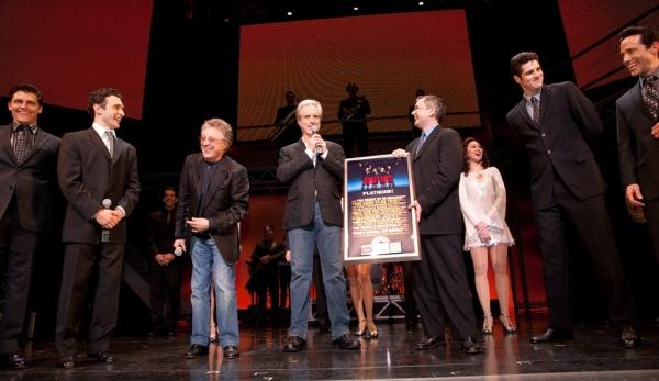 Devin May, Rick Faugno, Frankie Valli, Bob Gaudio, Kevin Gore of Rhino Records, Peter Photo