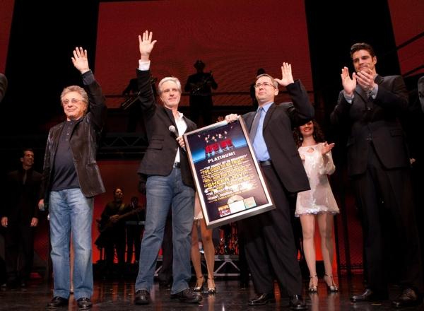 Frankie Valli, Bob Gaudio, Kevin Gore of Rhino Records and Peter Saide  Photo
