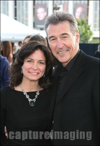 Randolph Mantooth (R) and wife Kristen Connors 