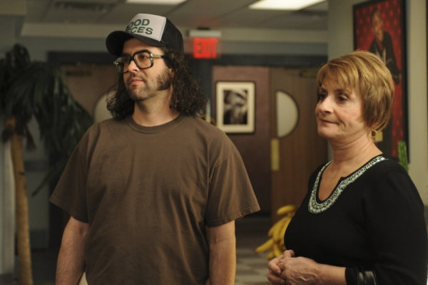 Judah Friedlander as Frank Rossitano, Patti Lupone as Sylvia Rossitano