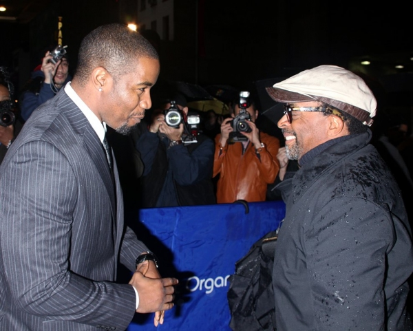 Michael Jai White and Spike Lee