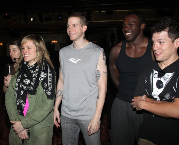 Libby Winters, Stark Sands, Joshua Henry and Miguel Cervantes at AMERICAN IDIOT Gypsy Robe Ceremony