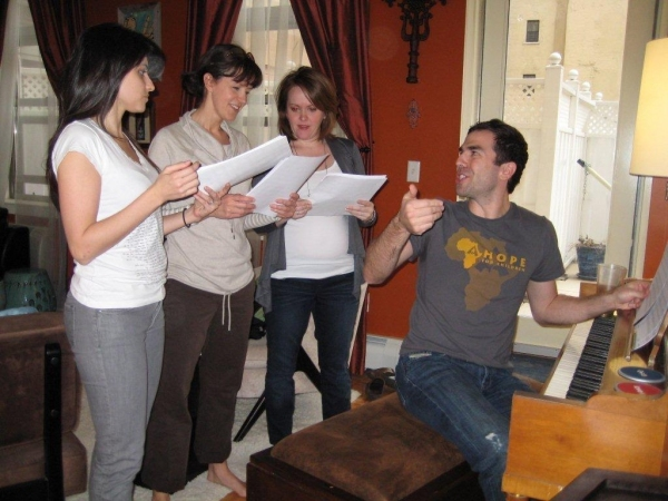Natalie Cortez, Garrett Long, Andrea Chamberlain, Kevin Crewell at Stars Rehearse SING FOR MY SISTER: A BENIFIT CONCERT, 5/10
