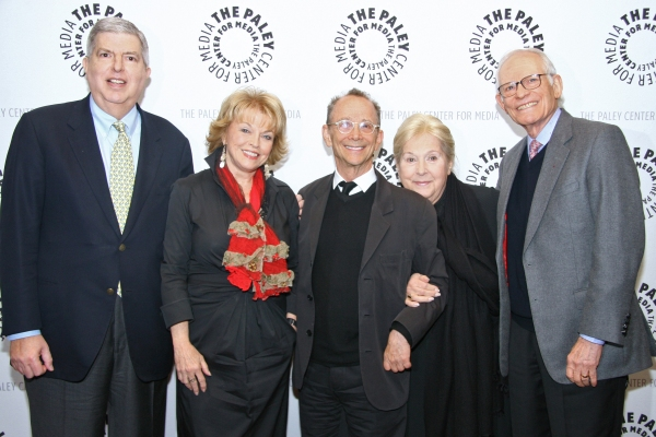 Marvin Hamlisch, Paley Center President Pat Mitchell, Joel Grey, Marilyn and Alan Bergman at Joel Grey Event At The Paley Center