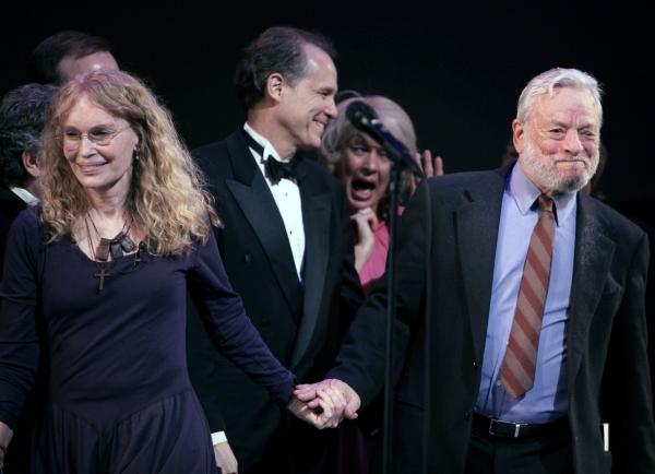 Mia Farrow, Jim Walton, Michelle Pawk and Stephen Sondheim