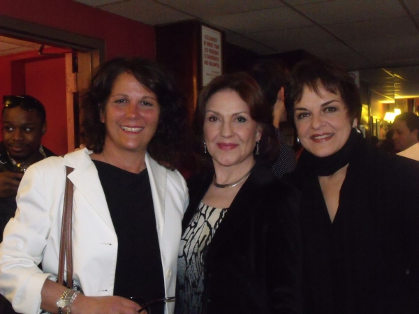 Karen Giombetti, Kelly Bishop and Priscilla Lopez