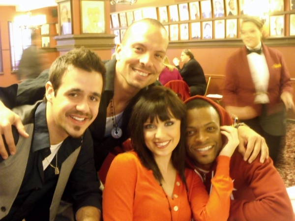 Noah Rivera, Marcos Santana, Dusti Fincher and Rickey Tripp at CTFD & Shubert Organization Hosts 'Between Show Get Together'