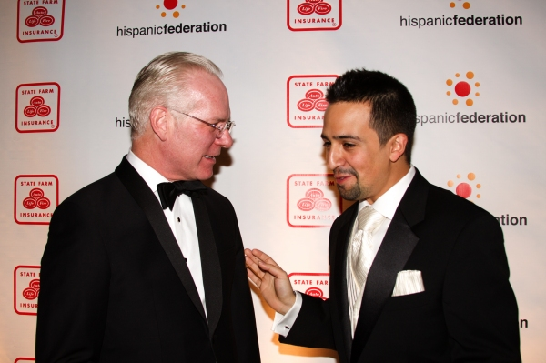 Tim Gunn and Lin-Manuel Miranda