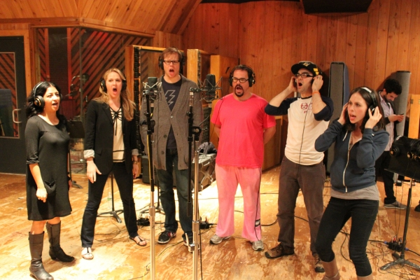 Photo Flash: Inside the BLOODY BLOODY Recording Session