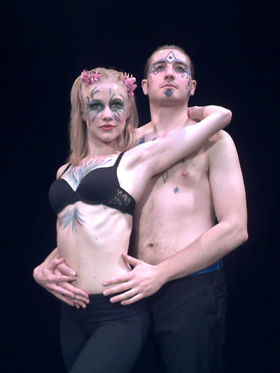 Rochelle Smith and Steve Mazzoccone at Firecat Productions' A MIDSUMMER NIGHT'S DREAM