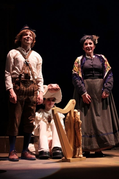 Blake Pfeil, Anna Baker, and Abigail Vega at Emerson College's INTO THE WOODS at the Cutler Majestic