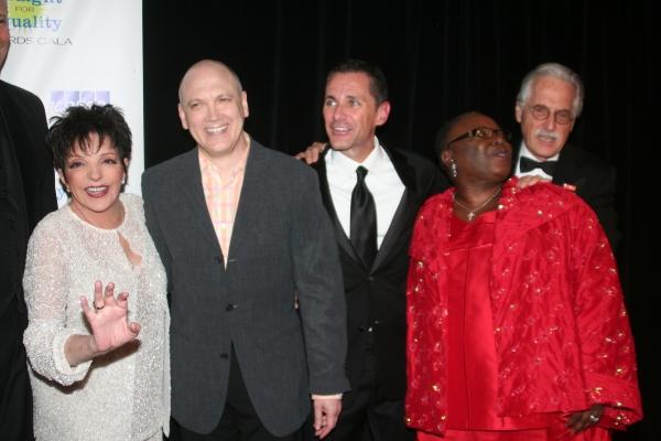Liza Minnelli, Charles Busch, Jody Huckaby, Tiane Mitchell Gordon and John Cepek