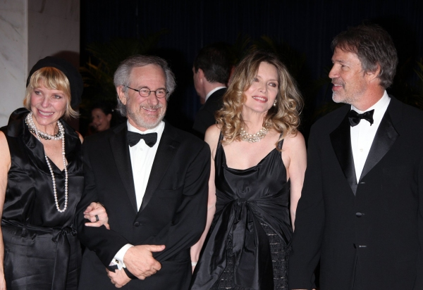 Kate Capshaw, Steven Spielberg, Michelle Pfeiffer & David E. Kelley