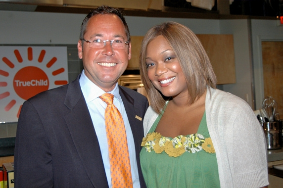 Chip Wheeler  (ING Foundation) and Sunny Anderson