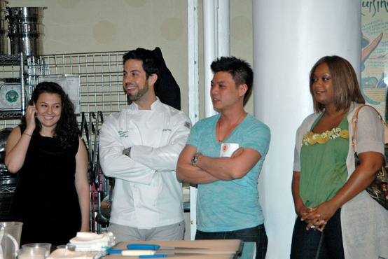 Mai Bar, Massimo DeFrancesca, Hung Huynh and Sunny Anderson get ready to judge the competition