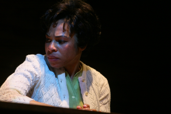 Corrine (Karen Aldridge) tries to be strong for her husband while battling with his weaknesses at The Goodman Theatre's THE GOOD NEGRO