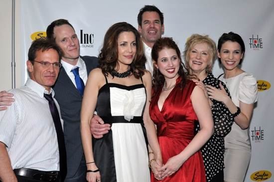 Peter Scolari,  Jimmy Ray Bennett, Andrea Grano, Rena Strober, Betty Buckley & Christy Carlson Romano at WHITE'S LIES Opens Off-Broadway!