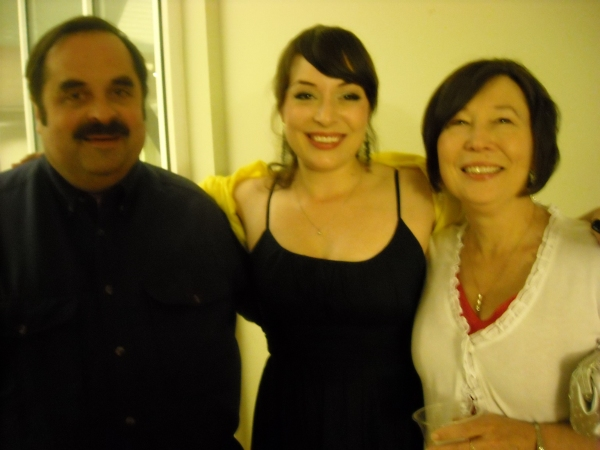 Andrea Andert with parents Tom and Kathleen Wilmoth