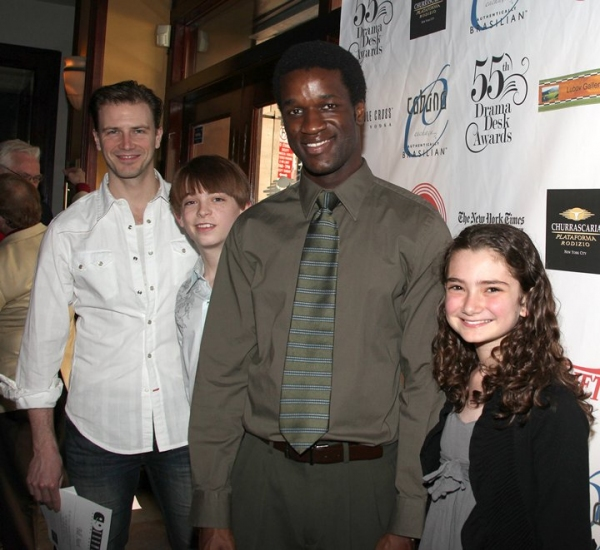 Bill Heck, Dylan Riley Snyder, Gilbert Owour and Emily Robinson Photo