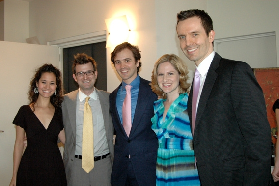Ali Ewoldt, Brian Neff, Andy Sandberg, Amy Justman, and Andrew M. Byrne (Musical Director of tonight's show)