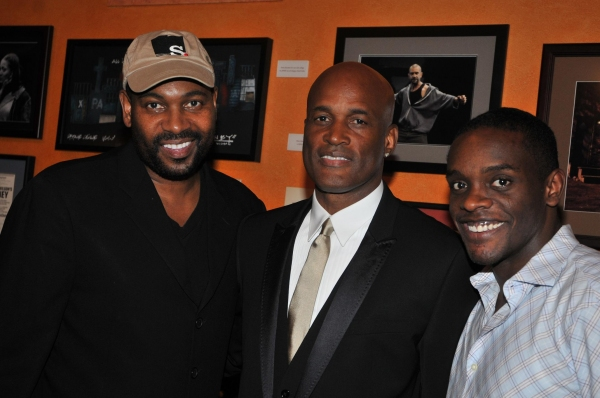 Mykelti Williamson, Kenny Leon and Chris Chalk at Leon's True Colors Theater Co.'s August Wilson Monologue Competition