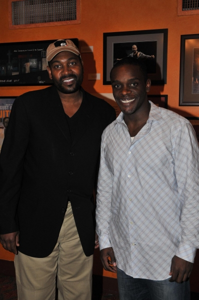 Mykelti Williamson and Chris Chalk at Leon's True Colors Theater Co.'s August Wilson Monologue Competition
