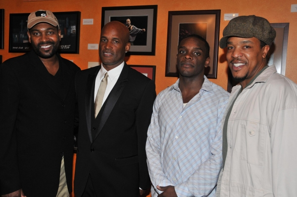 Mykelti Williamson, Kenny Leon, Chris Chalk and Russell Hornsby at Leon's True Colors Theater Co.'s August Wilson Monologue Competition