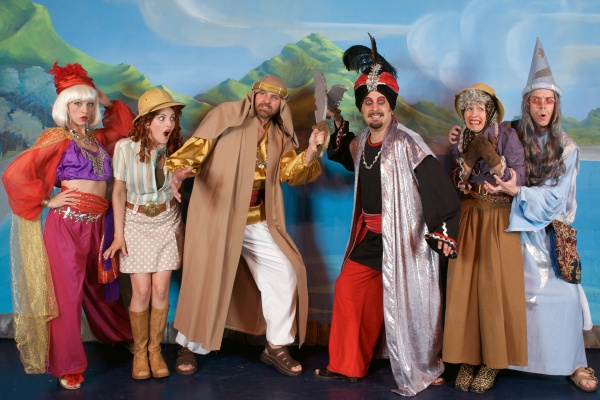 Corinne Adair, Julie Heaton, Scott Holman, Justin Berry, Mary Parker Williams and Ed Farnsworth at Desert Star Playhouse's SHEIK OF PERSIA