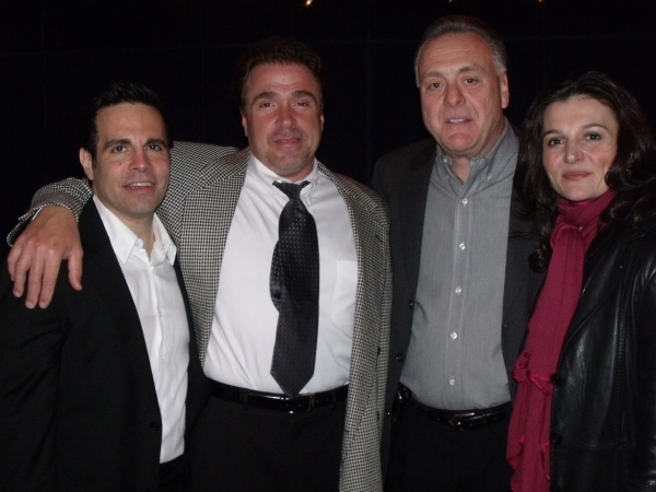 Mario Cantone, Michael Rispoli, Vincent Gogliormello and Antionette LaVecchia