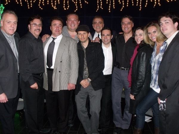 Co-Creator Vincent Gogliormello with cast members Lou Martini Jr., Michael Rispoli, Alex Corrado, Louis Vanaria, Ernest Mingione, Mario Cantone, Robert Cuccioli, Antionette LaVecchia, Autumn Potter and Nick Fondulis