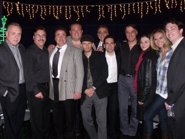 Vincent Gogliormello with cast members Lou Martini Jr., Michael Rispoli, Alex Corrado, Louis Vanaria, Ernest Mingione, Mario Cantone, Robert Cuccioli, Antionette LaVecchia, Autumn Potter and Nick Fondulis