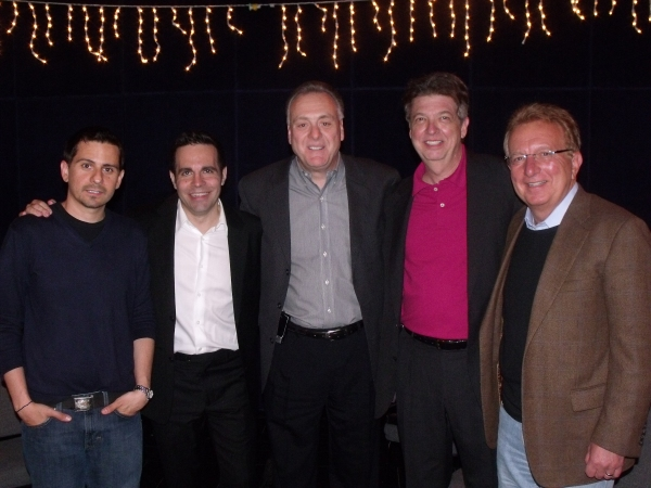 Charles Messina, Mario Cantone, Vincent Gogliormello, Charles Edward Hall and Producer Ted Kurdyla