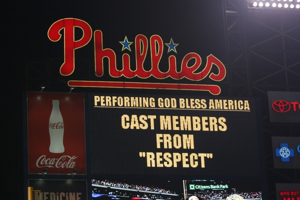 Photo Flash: Cast of RESPECT Sings At The Phillies Game