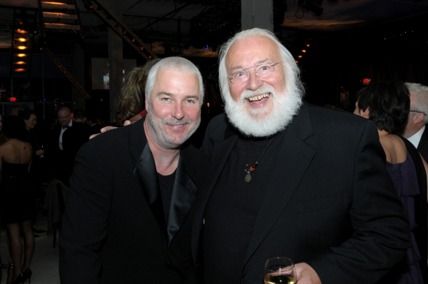 Steppenwolf ensemble members William Petersen and Frank Galati at Steppenwolf Theatre's GALA 2010