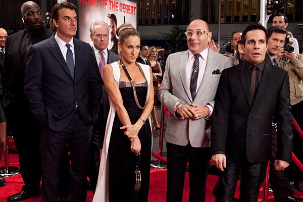 Chris Noth, Sarah Jessica Parker, Willie Garson, and Mario Cantone