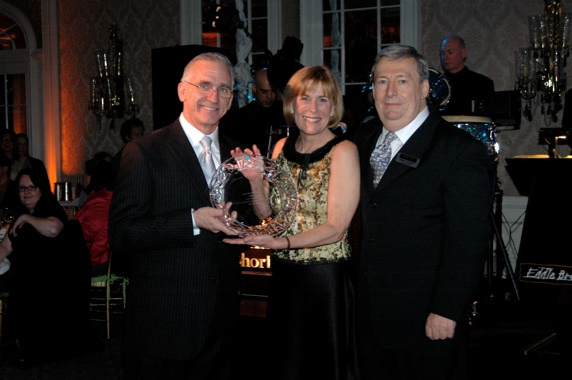 Mark S. Hoebee, Cynthia Mace and Mark W. Jones with the Frank Carrington Excellence in the Arts Awards