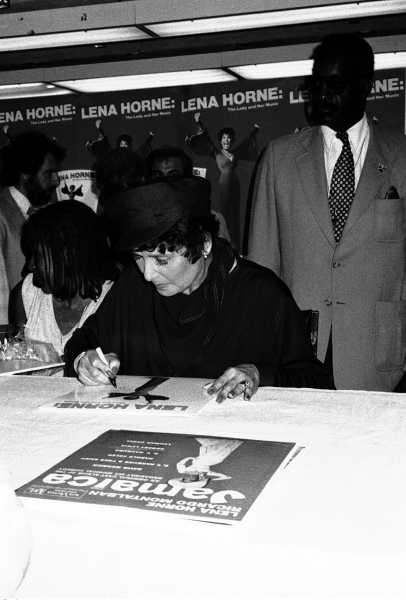 "1982 Promoting her new Original Cast Recording Album Release, ""Lena Horne: The Lady and her Music"""