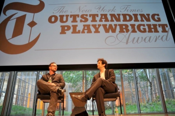 Photo Flash: Dan LeFranc Recieves 2010 NYT Outstanding Playwright Award
