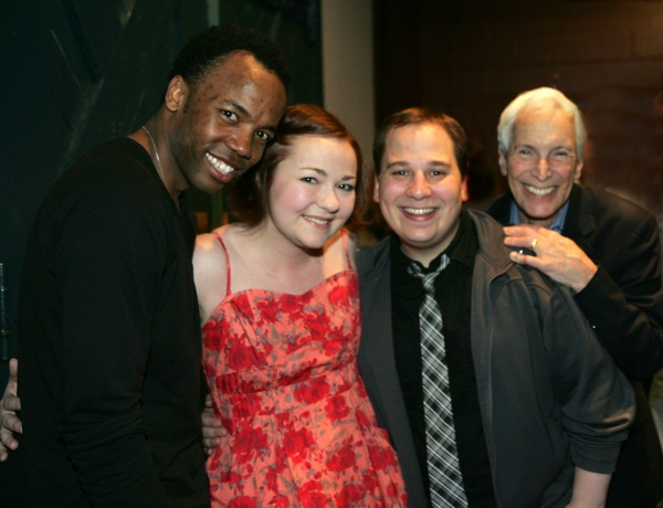 Tommar Wilson, Katie Klaus and Jared Gertner with Michael Price