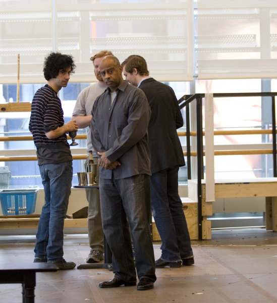 Ruben Santiago-Hudson (front), Hamish Linklater, Happy Anderson, and Cary Donaldson