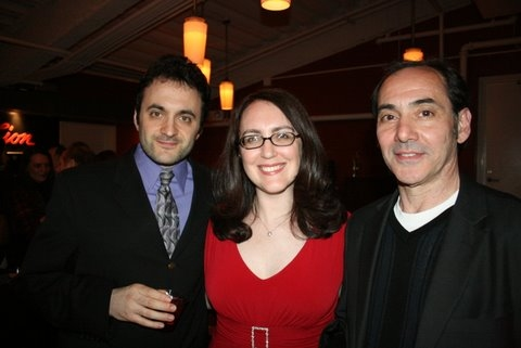 Eric Parness, Rachel Reiner and Chris Ceraso at Resonance Ensemble's Opening Night of Glass House & Master Builder
