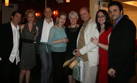 Evan Bergman, Gina Nagy Burns, David Bishins, Janet Zarish. playwright June Finfer, Harris Yulin and Resonances' Rachel Reiner and Eric Parness