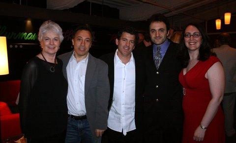 June Finfer, Kyle Bergman, director Evan Bergman, Eric Parness and Rachel Reiner