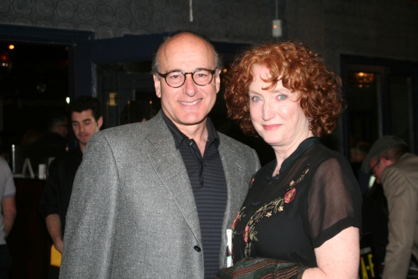 Peter Friedman and Caitlin O'Connell at 2010 Village Voice Obie Awards