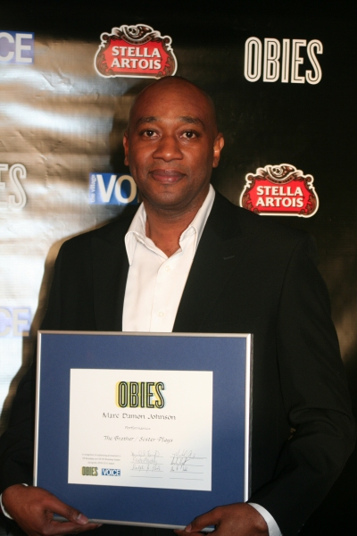 Marc Damon Johnson at 2010 Village Voice Obie Awards