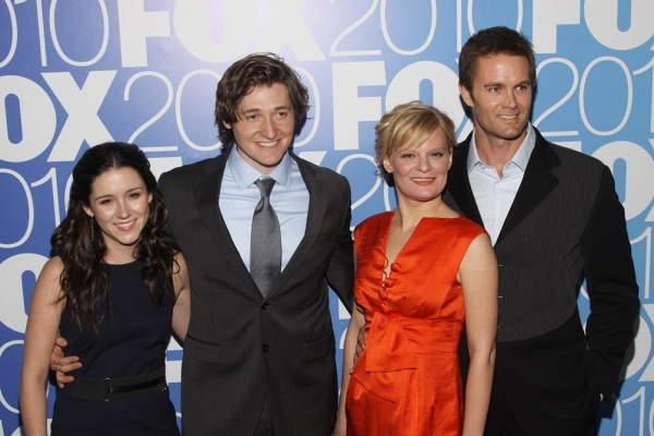 Shannon Woodward, Lucas Neff, Martha Plimpton and Garret Dillahunt (Rising Hope) at FOX '10-'11 Primetime Season Launch