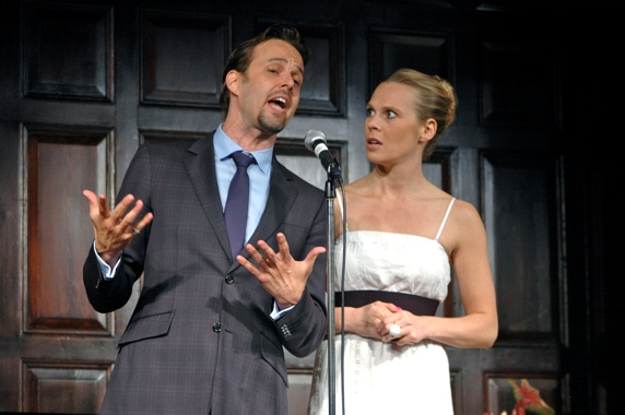 Noah Racey and Annika Boras at The 2009-2010 Theatre Museum Awards