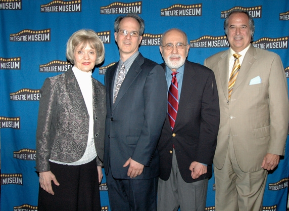 Helen M. Guditis, Jonathan Bank (Artistic Director of The Mint Theatre, George Morfogen, and Stewart F. Lane