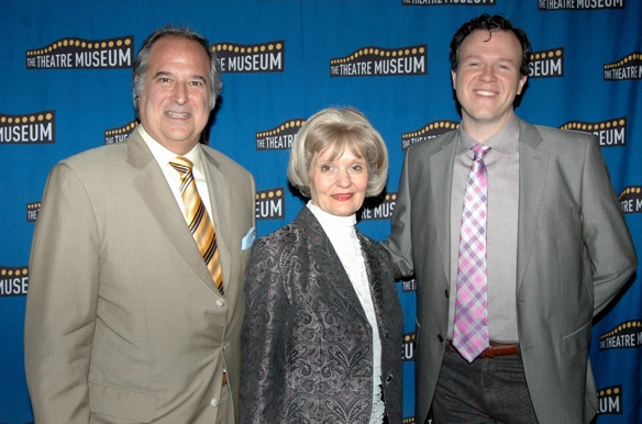 Stewart F. Lane, Helen M. Guditis, and Aaron Gandy (Musical Director of tonight's show)